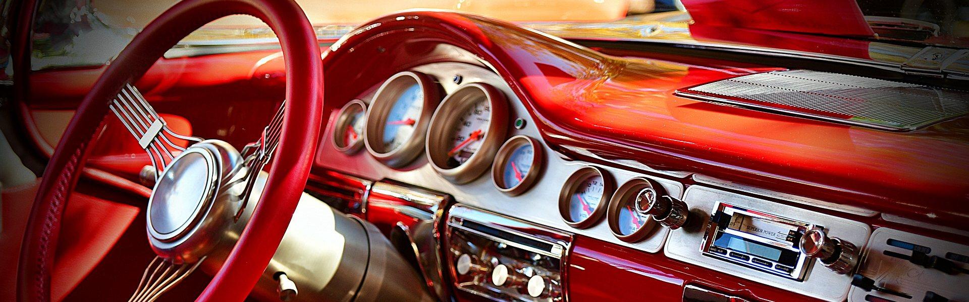 dashboard klassieke auto